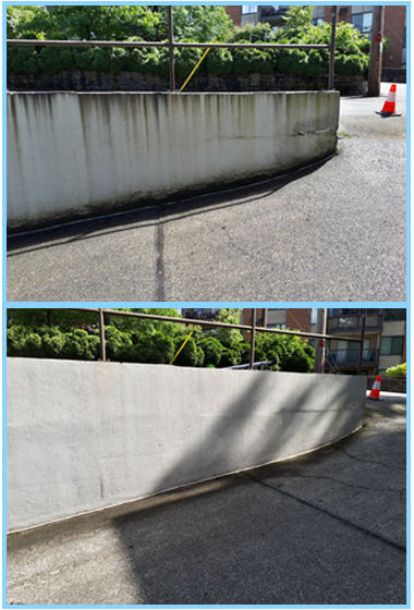 before and after pressure washing photos in vancouver